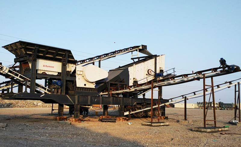 mobile crusher plant production line