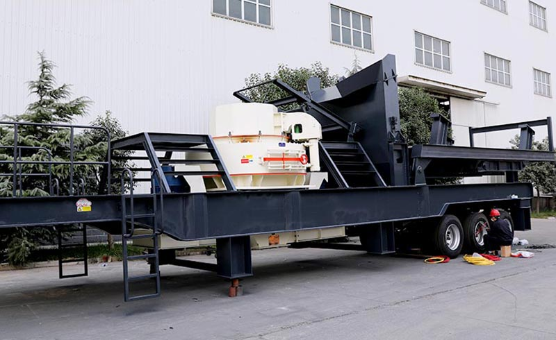 mobile crushing screening plant production site