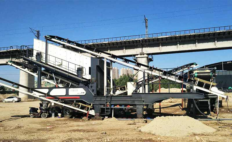 mobile vibrating screen production site