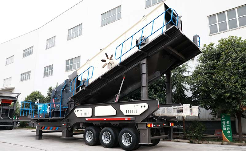 HXJQ factory mobile vibrating screen display