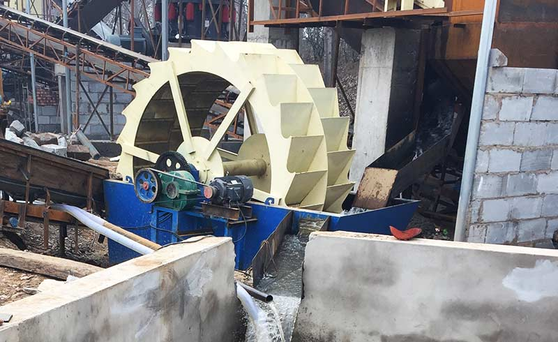 sand washer production site