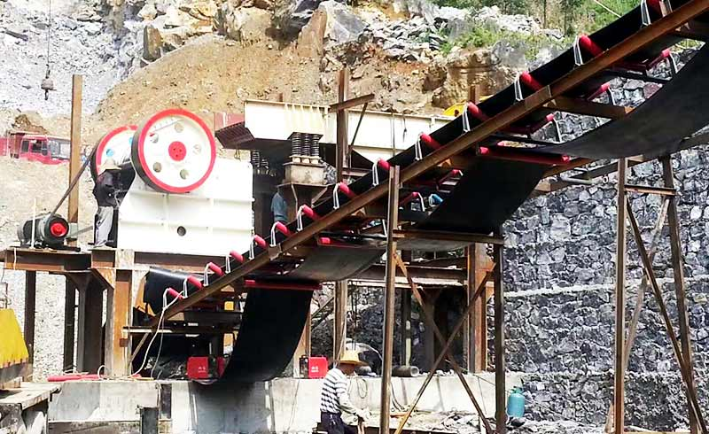 German type jaw crusher production site