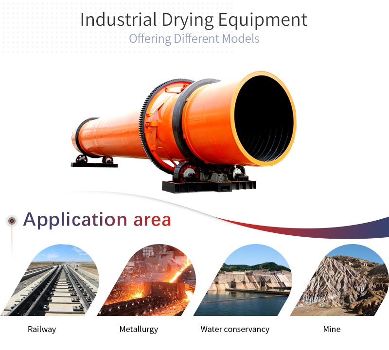 rotary dryer applications and applicable materials