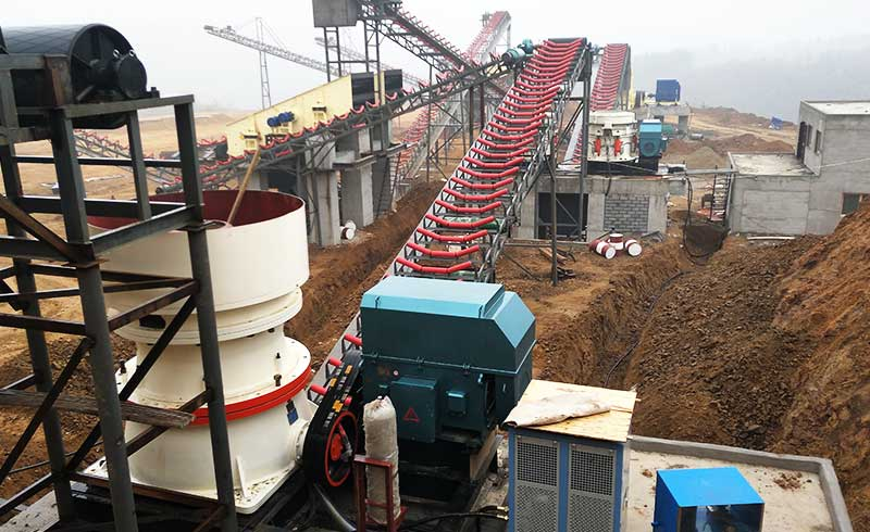 single-cylinder cone crusher production site