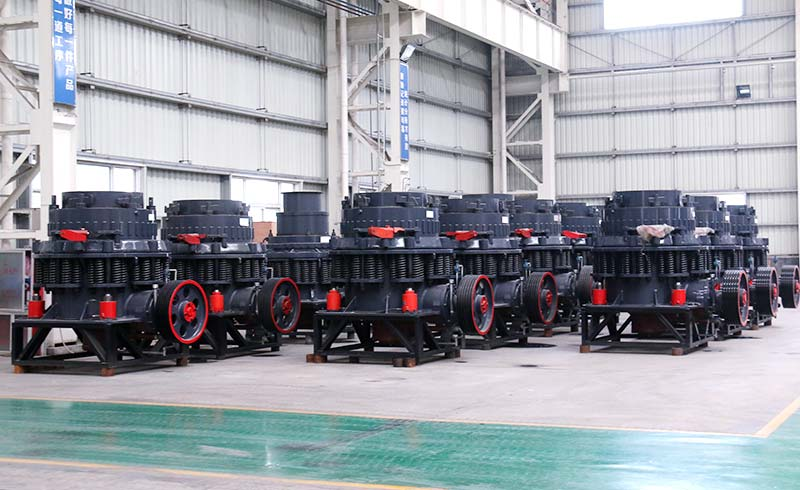 The company produces different types of symons cone crusher